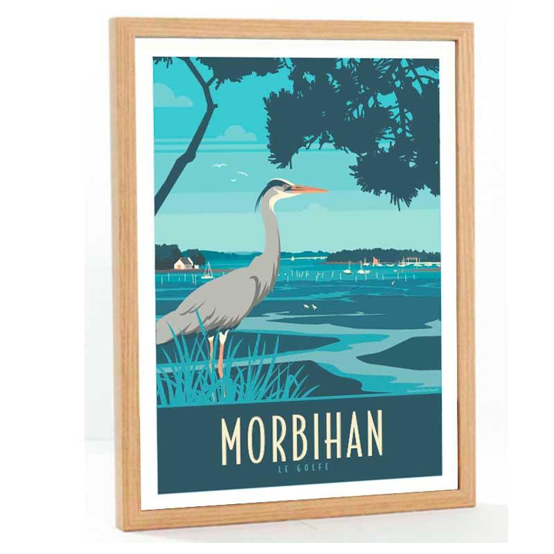 """Morbihan, le golfe"" Travel poster vintage, 50x70"
