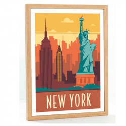 New York Travel poster 50x70
