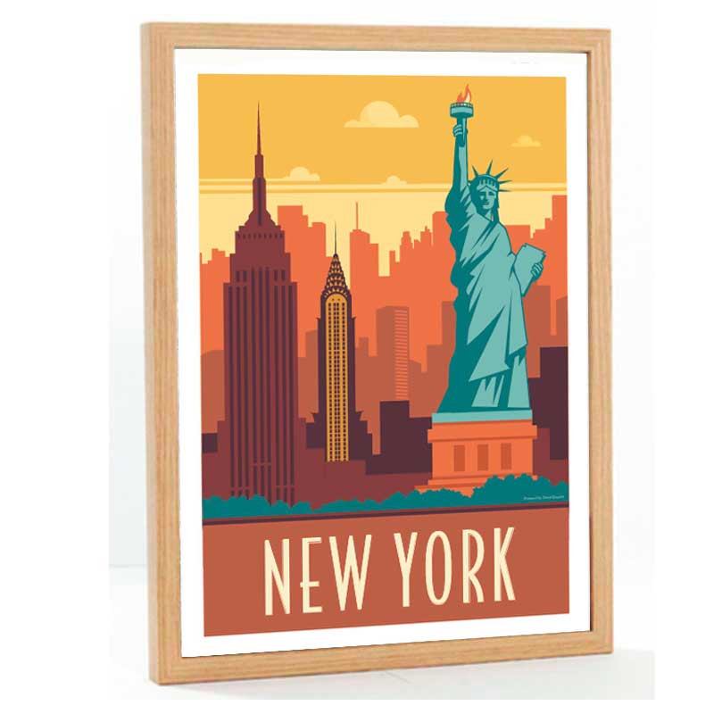 """New York"", Travel poster vintage, 50x70"