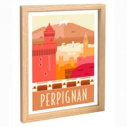 Perpignan Travel poster 30x40 le Canigou