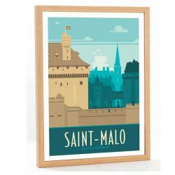 """""""St Malo, La cité Corsaire"""", Travel poster vintage,50x70"""