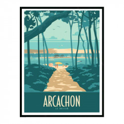 Arcachon Travel poster...