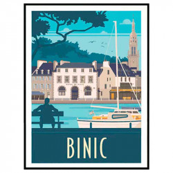 Binic Travel poster Cadre...