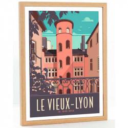 Vieux Lyon, la tour rose
