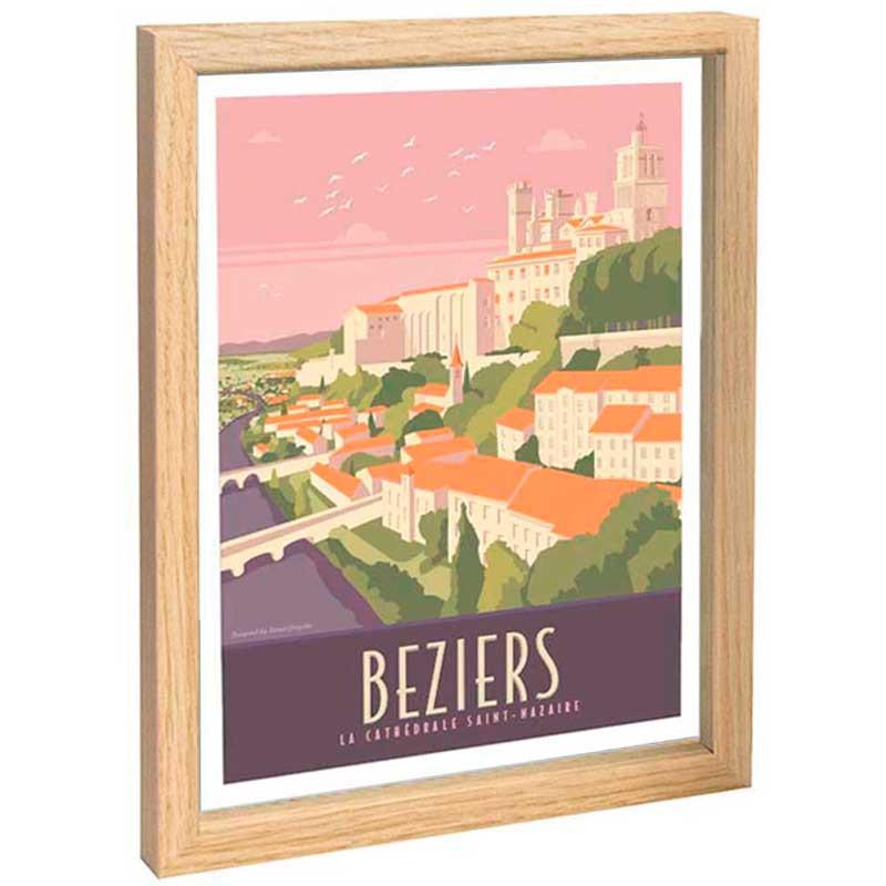 Beziers, Cathédrale Saint Nazaire Travel poster 30x40