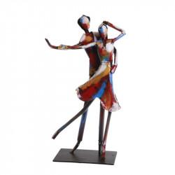 """"""" Couple de danseurs """", sculpture contemporaine métal ,collection pigment"""