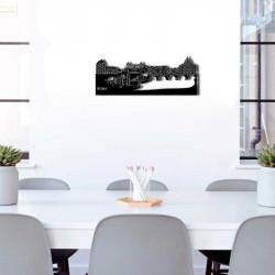 """"""" ROME """", Skyline, décoration murale métal découpé"""