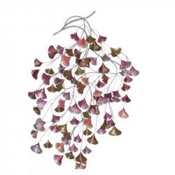 """"""" Branche Ginkgo biloba """", décoration murale métal florale"""