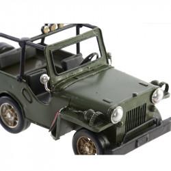 """"""" JEEP VERTE """", décoration métal véhicule vintage"""