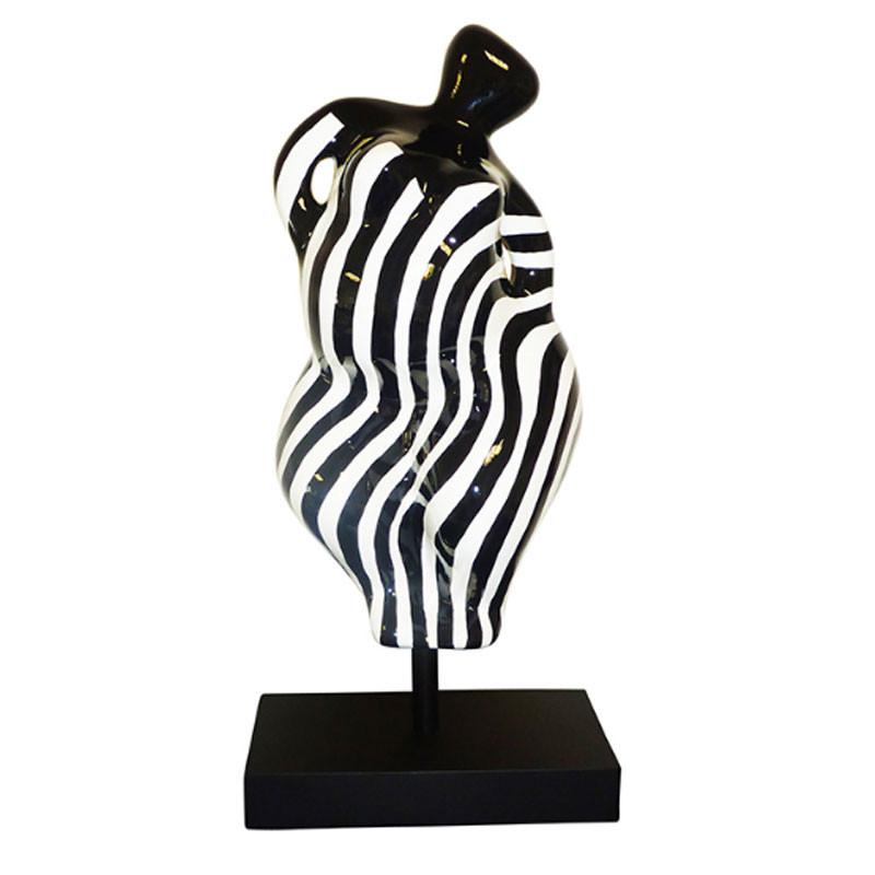 """"""" ZEBRA, BEACH HEART """", statuette design de Déesse"""