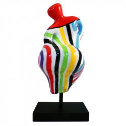 """"""" Rainbow rouge, BEACH HEART """", statue design de Déesse"""