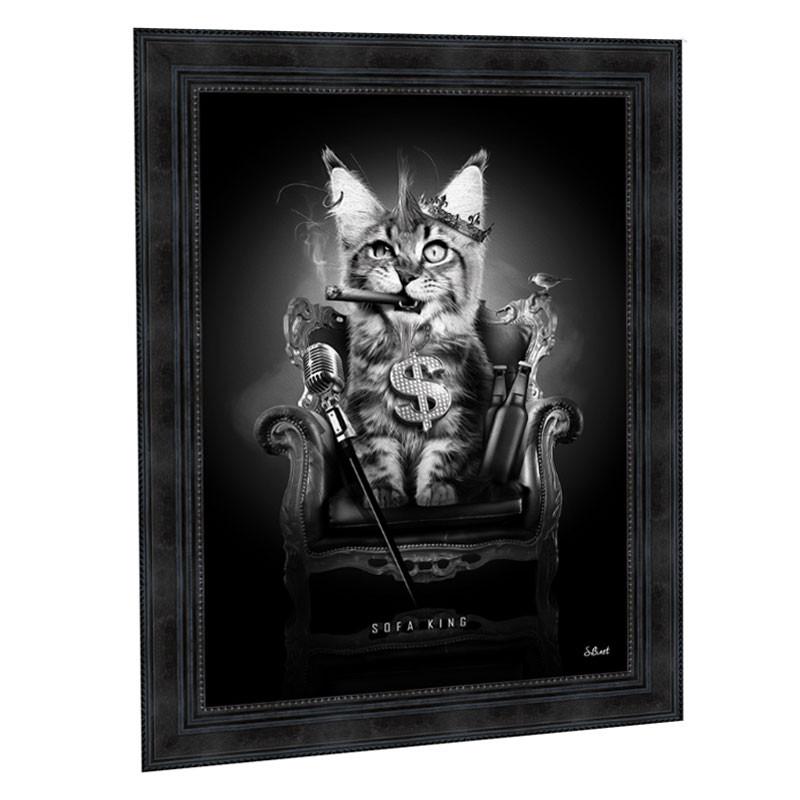 """ SOFA KING "", Tableau design Sylvain BINET, 50x70"