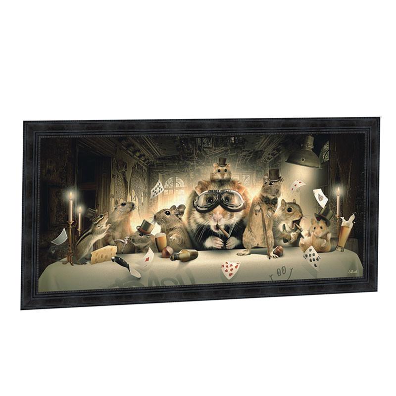 """"""" La cêne """", de Sylvain BINET, tableau design 76x153"""