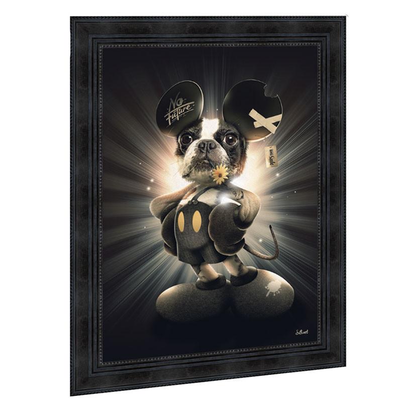 """"""" Mickey chien """", de Sylvain BINET, tableau contemporain 50x70"""