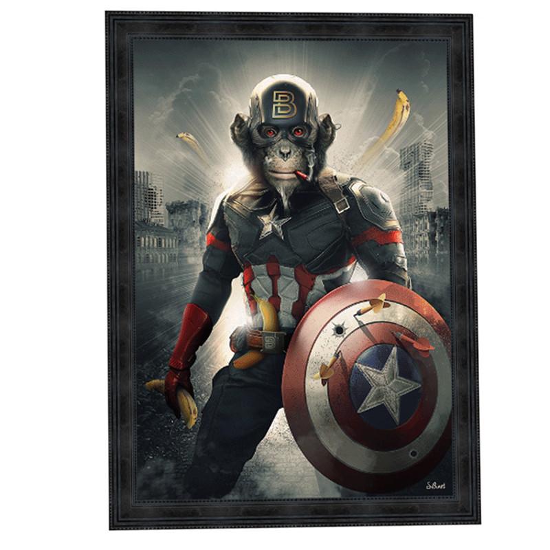 """Captain America"",de Sylvain BINET, Tableau contemporain 80x120"