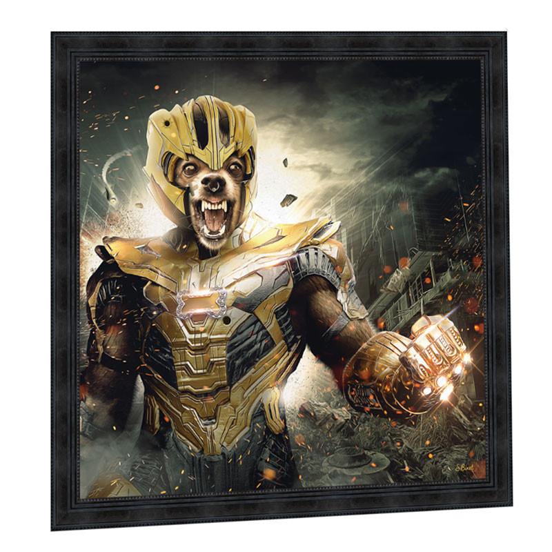 """Thanos "",de Sylvain BINET, Tableau design 100x100"