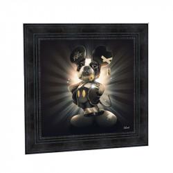 """"""" Mickey chien """", de Sylvain BINET, Tableau contemporain 40x40"""