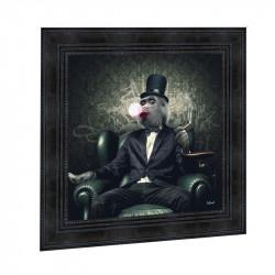 """""""  Singe chewing-gum """", de Sylvain BINET, Tableau contemporain 40x40"""
