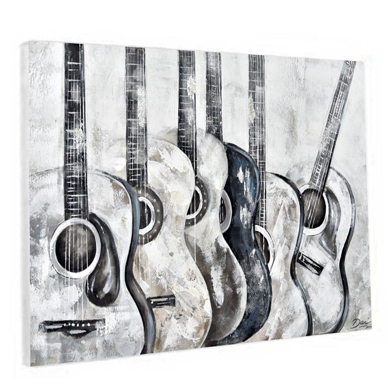 """"""" Guitares """", Tableau contemporain musique 80x120"""