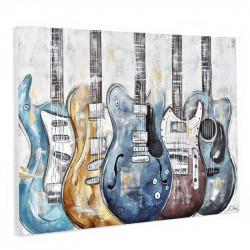 """"""" Guitares électriques """", Tableau design thème musique, 80x120."""