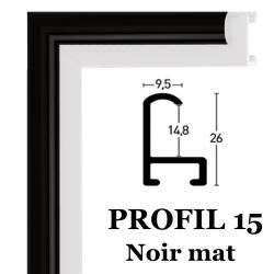 profil 15 couleur noir mat 021