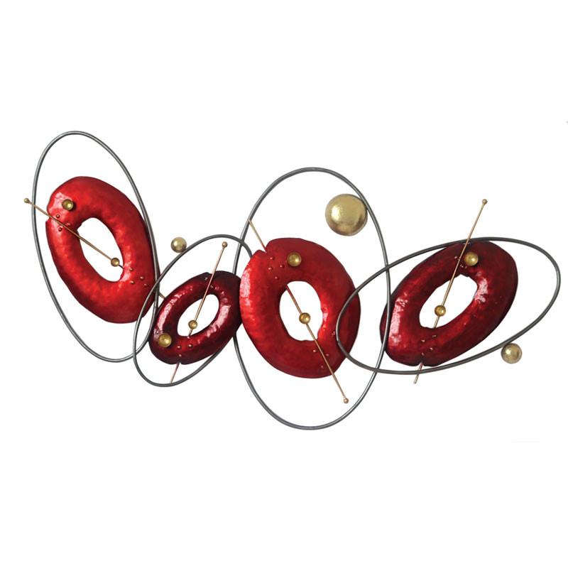 """"""" Galaxies rouge """", déco murale métal design"""