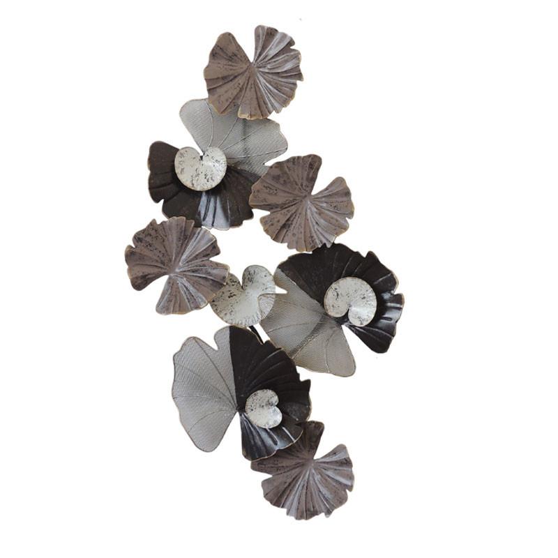""""""" Feuilles de nénuphar """", déco murale métal florale"""