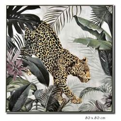 """"""" Panthère, décor tropical..."""
