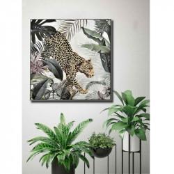 """"""" Panthère, décor tropical """", tableau contemporain"""