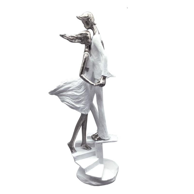 """"""" Couple romantique escaliers """", statue décorative design"""