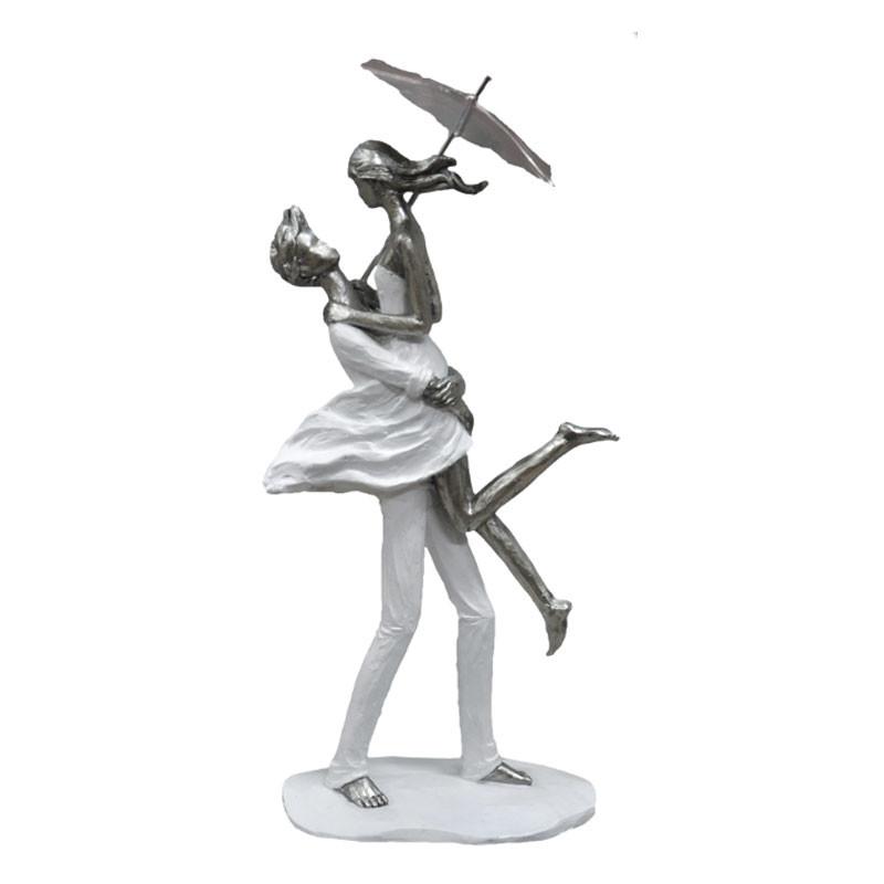 """"""" Couple romantique parapluie """", statuette décorative design"""