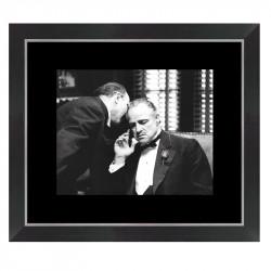 """"""" Le parrain """", tableau cinéma noir et blanc"""