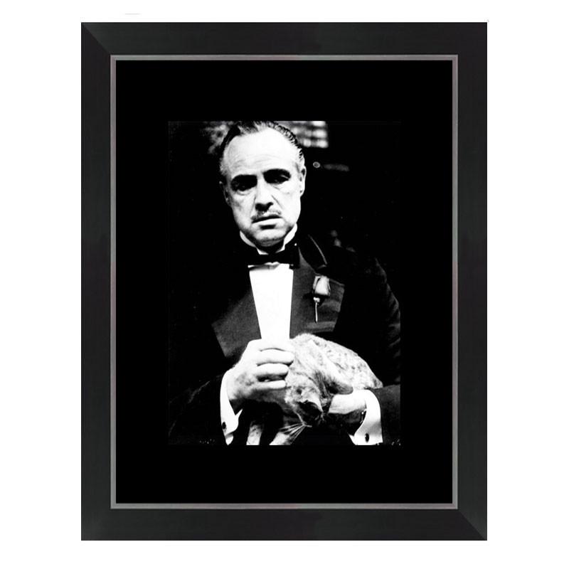 """""""Marlon Brando, LE PARRAIN """", tableau cinéma noir et blanc"""