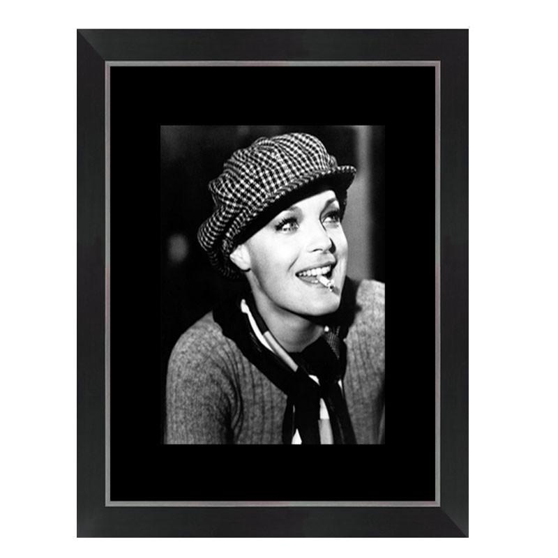 """ Romy Schneider "",tableau cinéma noir et blanc"