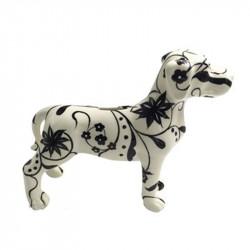 """ Dogue motif floral "",..."