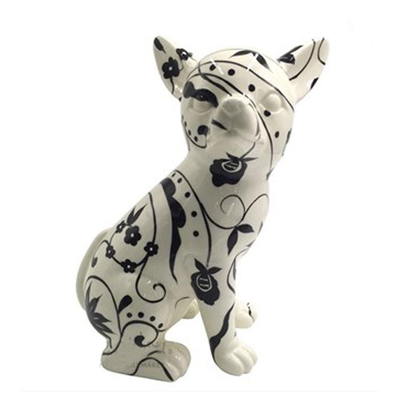 """"""" Chihuahua NANOU floral """", sculpture statue décoration design"""