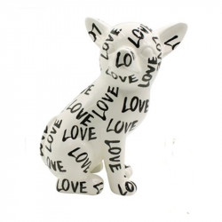 """ CHIHUAHUA NANOU, LOVE "", sculpture,statue décoration design"