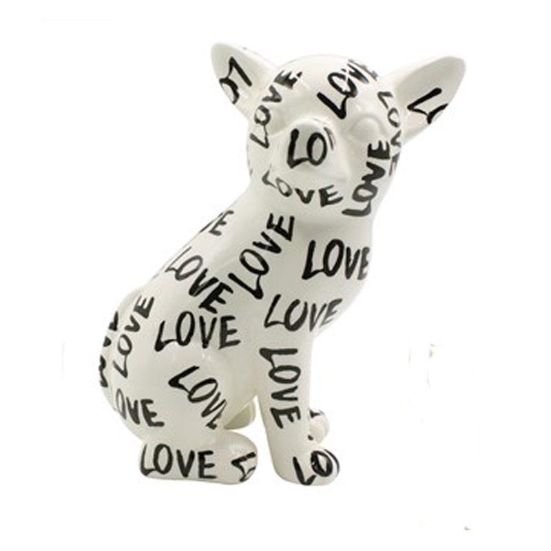 """ CHIHUAHUA NANOU, LOVE "", sculpture,statue décoration design"