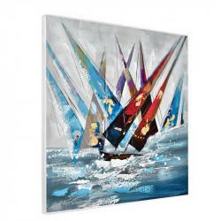 """"""" Régates en mer """", tableau contemporain marin"""