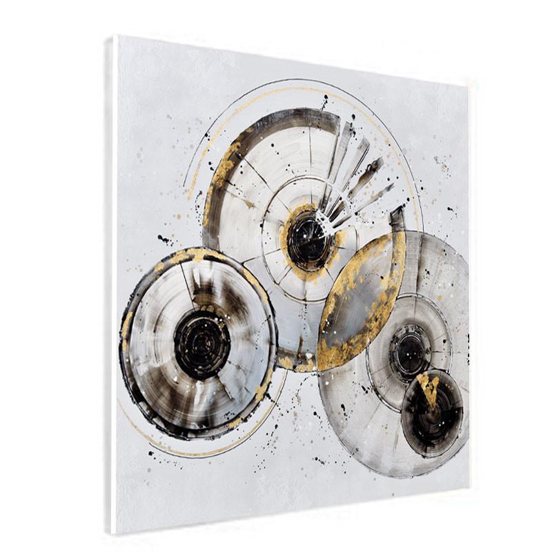 """"""" Cercles IRIS """", Tableau contemporain abstrait, 60x60 cm"""