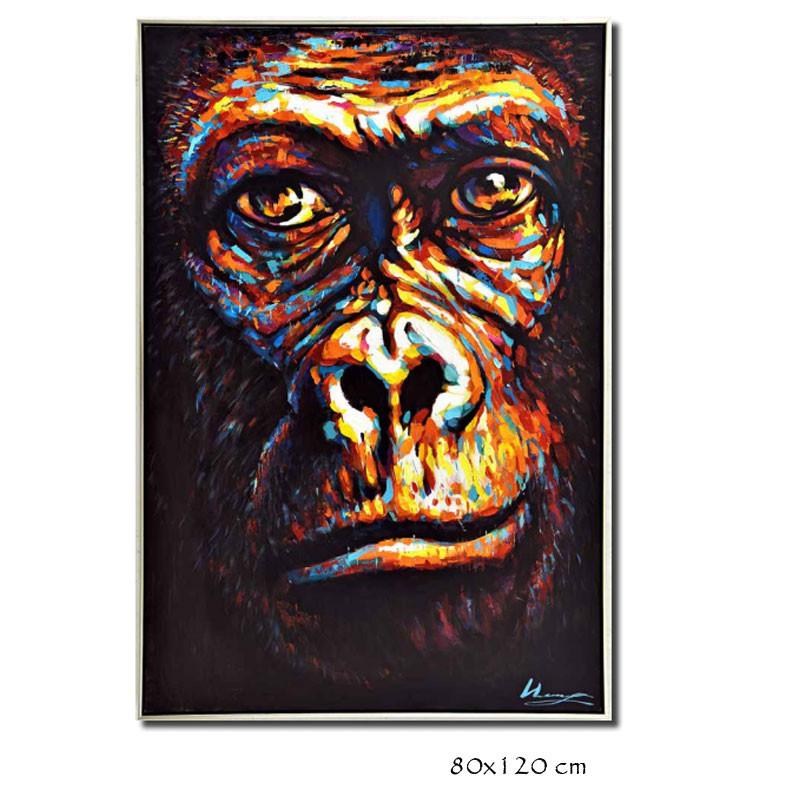 """"""" Gorille coloré """", tableau contemporain design,80x120cm"""