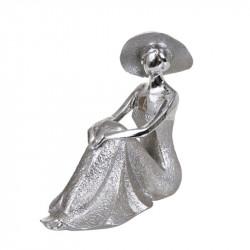 """"""" Femme au chapeau, assise..."""