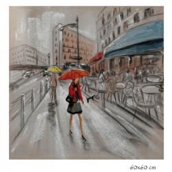 """ Promenade en ville "",..."