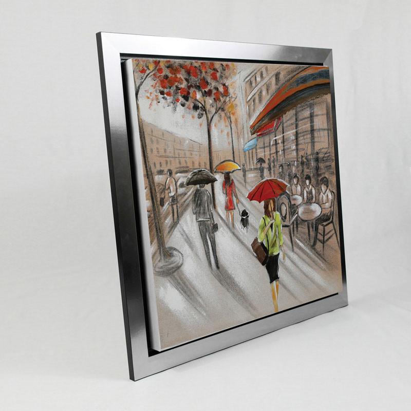 """"""" Journée shopping """", tableau contemporain urbain"""
