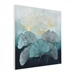 """ Feuilles de ginkgo biloba 2 "", tableau contemporain floral"