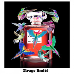 """Colibri, Chanel "", tableau plexi design"
