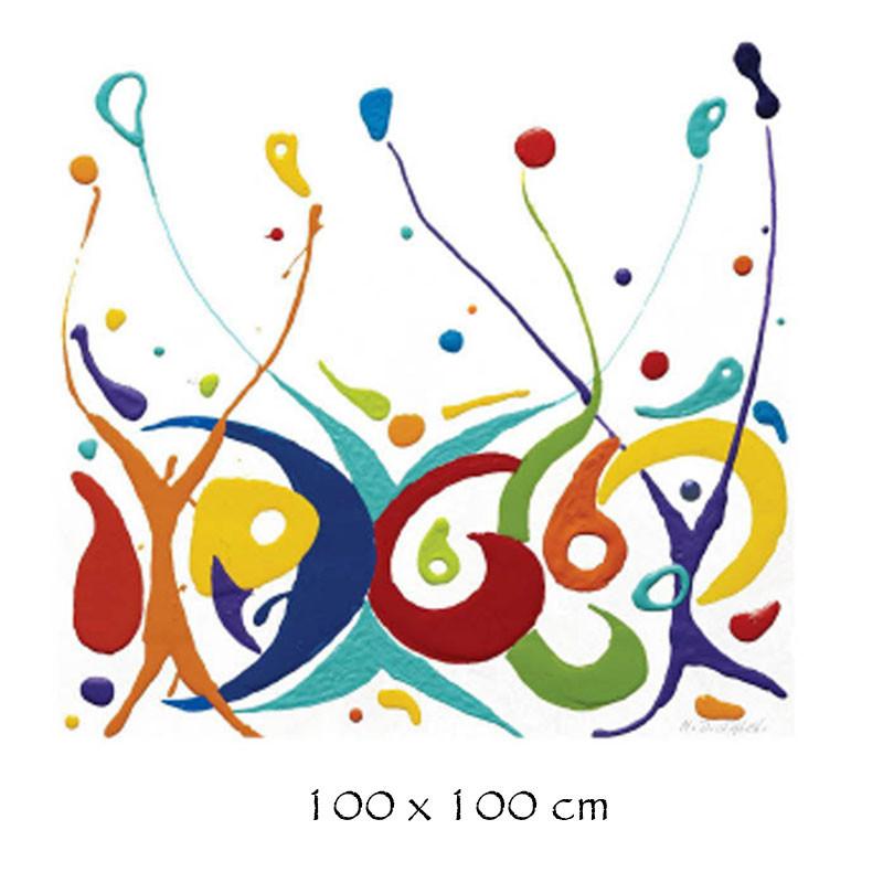 """QUARTET "", tableau plexi design de Martine DIOTALEVI"