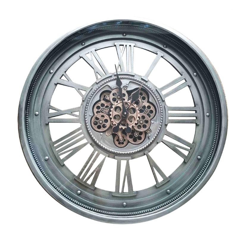 Horloge murale industrielle véritables engrenages