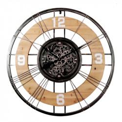 Horloge design bois et...
