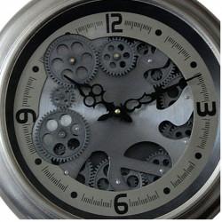 "Horloge design "" Chrono "" à engrenages tournants"